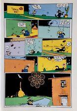 "Vtg 1976 CAT Art Print Poster Krazy Kat Cartoon Repro ** 9.5 x 12.75"""