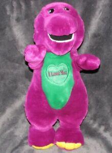 LYONS GOLDEN BEAR CO Barney Purple Dinosaur Plush Stuffed Sings I Love You 10''