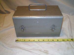 Vintage Metal Brumberger Film Reel Case