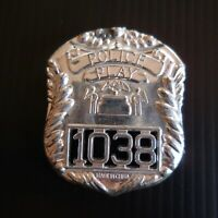 Médaille plaque miniature POLICE PLAY 1038 vintage mode art collection XX N5291