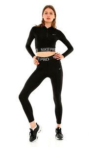 Nike PRO Women's Leggings Sportswear Black Tight Fit S-XL RRP 37.99£