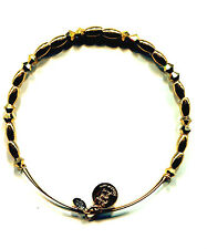 ALEX & ANI cut glass gold beads bracelet