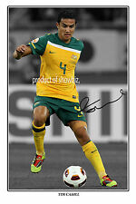 * TIM CAHILL * Large autographed poster of Everton and Australia soccer star!