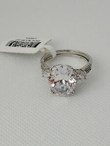 Bella Luce large CZ 925 sterling silver ring Promise Engagement 8.45CTW with tag