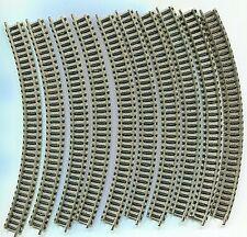 20 x FLEISCHMANN 9125   Curved track  R2      N Gauge (F541)