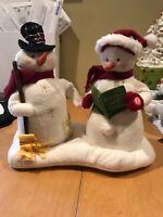 Rare Hallmark Jingle Pals Singing Snowmen Christmas Caroling Snowman 2003