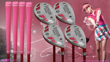 "Women's iDrive Golf Clubs All Ladies Pink Hybrid (3-6) Set Lady ""L"" Flex Clubs"