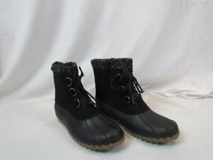 NIB Baretraps Bare Traps Stay Dry System Black Flat Duck Boot Side Zipper Sz 9 M