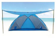 Strandmuschel 270x120x120cm mit Sonnendach UPF 80+ Sonnenschutz Windschutz Zelt