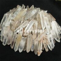 1/2LB NATURAL Lemurian CLEAR Quartz Crystal Wand Points Specimen D4