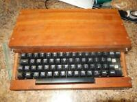 Rare Vintage Keyboard in Wooden Case for Apple 1 / One Computer