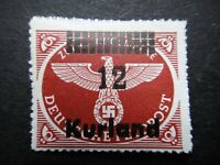 Germany Nazi 1945 Stamps MNH Kurland Overprint Emblem Third Reich Swastika Eagle