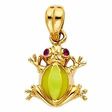 14K Yellow Gold Frog Pendant GJPT1547