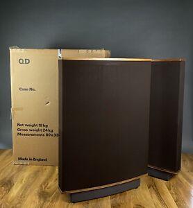 QUAD ESL-63 Electrostatic Loudspeakers. Brown/Walnut Finish. Boxed. 99p NR