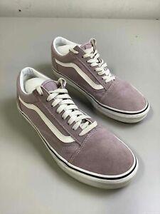 Men's Vans Old Skool Lavender Suede Shoes Size 9.5