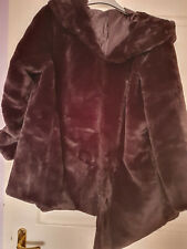 NEW Ladies Faux Fur Hooded Jacket UK Size 22/24