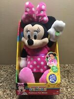 NewDisney Mickey Clubhouse Fun Minnie Mouse Bowtique Song Talking Phrases Plush