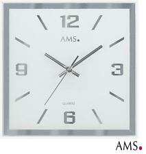 AMS 41 Wall Clock Quartz Watch Kitchen (Low Noise ) Office Mirror Glass 378