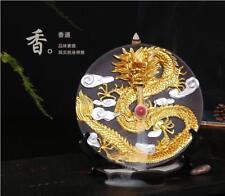 Home Decor Creative Ceramic Dragon Hanging Plate Smoke Backflow Incense Burner