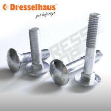 Schlossschrauben Flach Schrauben metrisch M8 - M12  Voll.- oder Teilgewinde