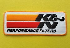 MOTOR RACING OILS, FUELS & TYRES SEW ON / IRON ON PATCH:- K & N FILTERS
