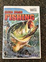 Sega Bass Fishing (Nintendo Wii, 2008) Complete Guaranteed Working