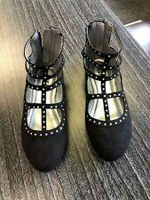 NIB Mia Kids Girls Queenie Black Nova Suede Shoes - Size 3