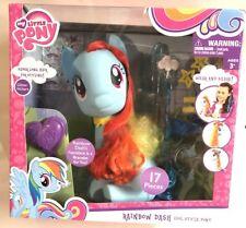 "My Little Pony Movie Rainbow Dash Large 11"" Hair Styling Pony Hasbro Figure Toy"