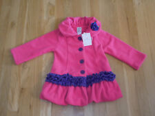 Mack & Co Hot Cocoa Fleece Coat Little Girls 2T Hot Pink/Purple Rn #188373 New!
