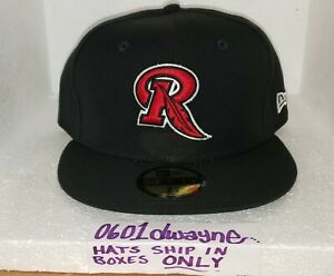 7 3/4 Rochester Redwings Black/Red New Era 59Fifty Wool MiLB Fitted Cap Hat