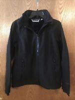Free Country Women's Super Softshell  Jacket with Removable Hood, Medium Black