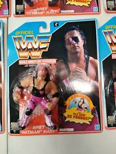 "1992 WWF Bret ""Hitman"" Hart MOC Case Fresh Hasbro WWE WCW  French Card"