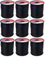 (9) Lot 3 lb Spools Rotary 12174 Black Vortex Prof. Trimmer Line .080 x 960'