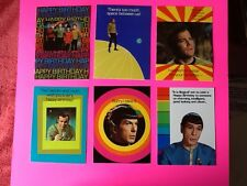 6 STAR TREK GREETING CARDS 1976 ORIGINAL SERIES W/ ENVELOPES SPOCK=NIMOY, KIRK