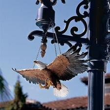 Mid-Flight Majestic American Spirit Freedom Flies Hanging Bald Eagle Sculpture