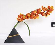 PYRAMID volcano MIKASA single stem orchid vase LAVA tiki LASLO modern illuminati