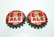 Vintage Set of (2) E and B ALE Unused Cork Lined Beer Caps / Crowns E&B