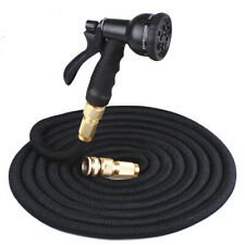 25-100FT Expanding Garden Water Hose Pipe SprayGun Flexible Grow Stretch Pipes.