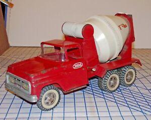 Vintage 1960-64 Tonka Pressed Steel Concrete Cement Mixer Truck No. 620 Works VG