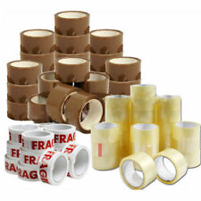 Parcel Packing Tape Brownclearfragile 50mm X 66m Cartons Sealing Strong Rolls