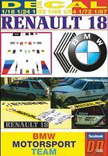 DECAL RENAULT 18 BREAK BMW MOTORSPORT TEAM MOTUL BERNARD BEGUIN (06)