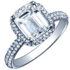 Platinum Emerald Cut 3.50 Carat GIA Certified Diamond Engagement Ring