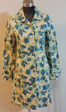 Old Navy Womens Size S Vtg Mod Style Floral Casual Trench Coat Jacket Spring 05