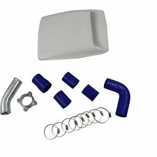 Top Mount Intercooler Pipe Kits For Toyota Hilux 1KZ-TE 3.0L 2002-2005 Blue 3""