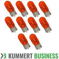 10x T10 Lampe LIMA w5w WY5W 5 Watt Seiten Blinker Glühbirne ORANGE