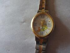Armitron Loony Toons Tweety Quartz Petite Wristwatch Watch Goldtone 2 tone