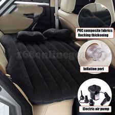 Car Travel Inflatable Mattress Air Cushion Bed Backseat Camping Rest Sleep Black