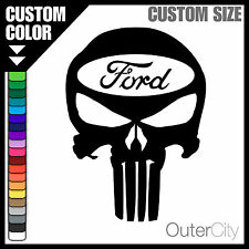 Ford Punisher Decal - F-150 Truck 4x4 Focus Mustang GT Fiesta Car Sticker Label