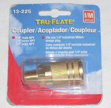 "Plews Tru-Flate 13-225 Air Line Compressor 1/4"" Male Air Coupler Fitting"