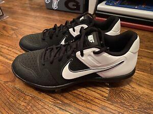 Nike Alpha Huarache Varsity Low Baseball Cleats Black/White Men's 9 [AO7960-003]